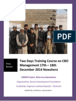CBO Management Training Report