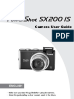 Canon SX200IS PowerShot User Manual