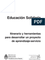 Itinerario y herramientas para desarrollar un proyecto de aprendizaje-servicio