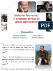 Mahathir Mohamed_strategic Thinker of Great Significance