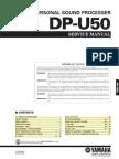 Yamaha DP-U50 Service Manual
