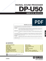Yamaha DP-U50 Service Manual