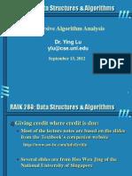 Analysis Recursive Algorithm