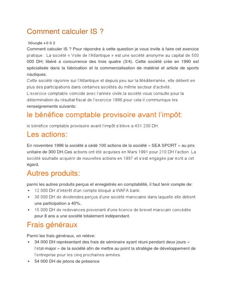 impot+sur+dividende+maroc