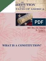 (Am. Civ.) (Master 1)Lecture 2 - Us Constitution (12!11!2014) (Dr. Toulgui l.)