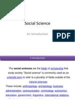 Social Sciensessse