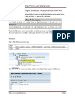 How to Setup Material Grid Dimension Value Conversion in SAP AFS