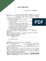 Documentatie de Infiintare Cooperativa, Statut, Proces Verbal, Act Constitutiv