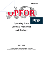 Army - fm-7-100 - opposing force doctrinal framework