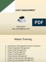 Pembelajaran Manajemen Proyek