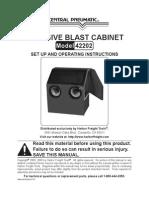 Sand Blasting Cabinet Manual