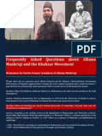 Frequently Asked Questions about Allama Mashriqi and the Khaksar Movement