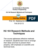 HU164 Lect1 Outline