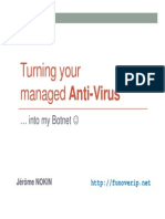 Turning Your Managed AV Into My Botnet OWASP2013 Nokin Jerome v1.1