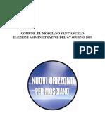 Programma Amministrativo Nuovi Orizzonti
