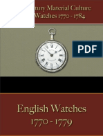Time Pieces - Silver Watches 1770 - 1784