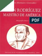 RUMAZO GONZALEZ A - Simón Rodríguez. Maestro de América