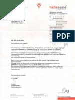 Antwort Der Stadt Halle Auf Meine Angebliche Ordnungswidrigkeit Vom 11.11.2014