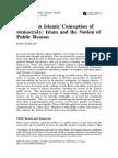 Toward an Islamic Conception of Democracy