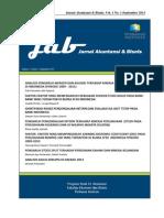 Jurnal Akuntansi & Bisnis (JAB) - Perbanas Institute, Volume 1, Nomor 1, September 2013