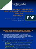 OyD en Saneamiento Foro Nicaraguasan 2013