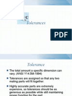 Tolerancing and Fits