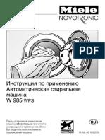 Miele w 985 Wps Novotronic