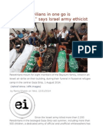 """Killing 40 Civilians in One Go is """"Reasonable,"""" Says Israel Army Ethicist"""