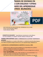 Bilingues - La Enseñanza de Idiomas en Alumnos Con Dislexia