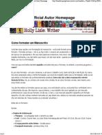 Como Formatar Um Manuscrito _ Holly Lisle_ Official Autor Homepage