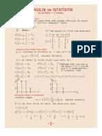 Olasılık Ve İstatistik - Sakarya Üniversitesi Ders Notları