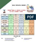 Programa Dominical de Dirección de Servicios Setiembre y Octubre 2011