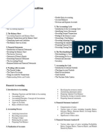 Accounting Course Outline