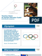 Teaching Values Presentation 5 Olympic Educational Values
