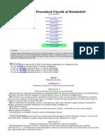 Codul de Procedura Fiscala 1 Ianuarie 2009