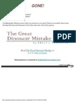 The Great Dinosaur Mistake