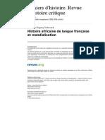 Chrhc 2824 119 Histoire Africaine de Langue Francaise Et Mondialisation