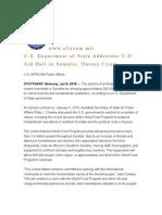 U.S. Department of State Addresses U.N. Aid Halt in Somalia, Guinea Crisis