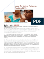 Sri Lanka Survey on Voting Patterns – Presidential Election 2015