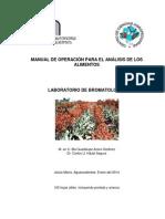 Manual de Practicas Bromatologia 2014