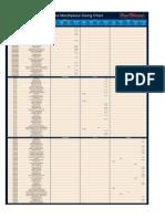 Enlightened Ligature Sizing Chart