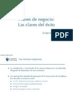 Planes de negocio - Claves del éxito - Zaragoza
