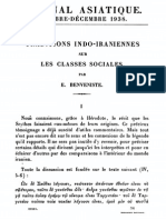 Traditions Indo-iraniennes Sur Les Classes Sociales (Benveniste1938)