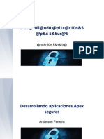 Developing Secure Apex Applications - Spanish Version - Anderson Ferreira
