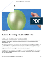 Tutorial_ Measuring Reverberation Time _ Solent Acoustics
