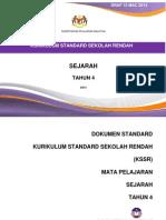 Dokumen Standard Sejarah Tahun 4_2014