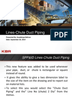 SPP&ID Lines-Chute Duct Piping