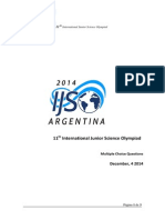Ijso2014exam-Multiple Choice Questions Answer Sheets