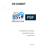 Ijso2014exam-Experimental Questions Answer Sheets