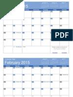 2015 Calendar Template (printable).xlsx